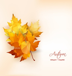 Autumn background with geometrical leaves Back to vector