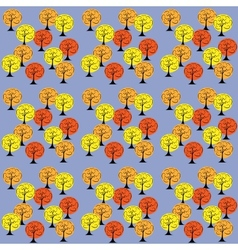 autumn trees seamless pattern background vector image