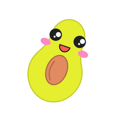 Avocado cute kawaii character vector