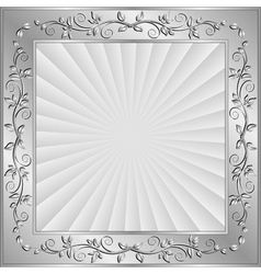 Background with floral frame and copy space vector