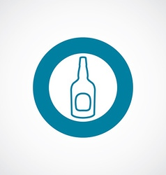 Beer bottle icon bold blue circle border vector