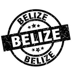 Belize black round grunge stamp vector