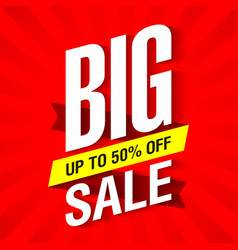 Big Sale banner design template vector
