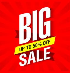 big sale banner design template vector image
