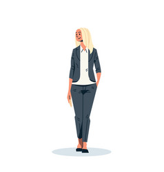 blonde businesswoman hand pocket business woman vector image