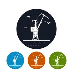 Cargo crane iconlogistics icon vector image