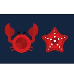 Cartoon of cute crab character vector