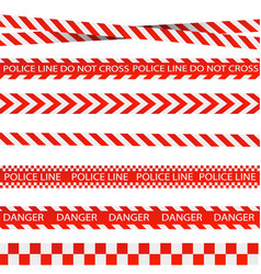 Caution lines isolated warning tapes danger vector