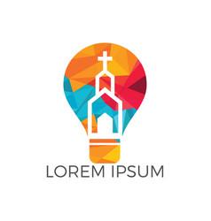 church logo design vector image