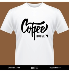 Coffee hand lettering - handmade calligraphy vector image