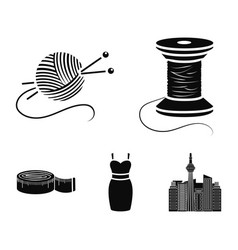 Coil of thread centimeter dress ball of thread vector