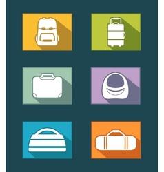 colorful icons set with bags vector image