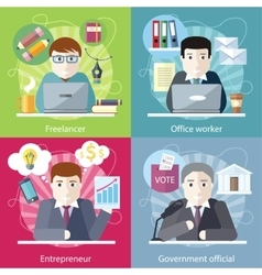 Concept Work Employed Freelancer vector