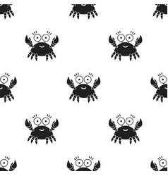 Crab black icon for web and mobile vector