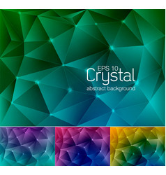 crystal abstract background 7 vector image