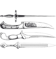 Dagger Set vector image