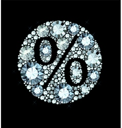 Diamond Sale vector image