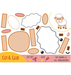 education paper game for children sheep vector image