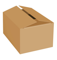 empty box mockup realistic style vector image