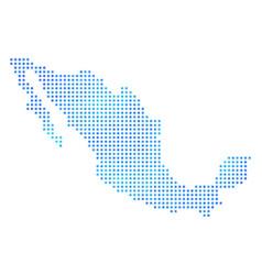 Frozen mexico map vector