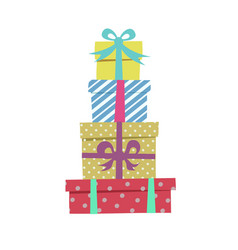 gifts cute cartoon style vector image