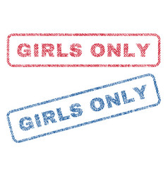 Girls only textile stamps vector