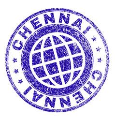 Grunge textured chennai stamp seal vector
