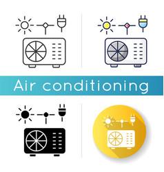 Hybrid air conditioner icon vector