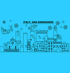 italy san gimignano winter holidays skyline vector image