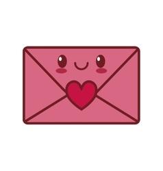 kawaii love message envelope valentine vector image