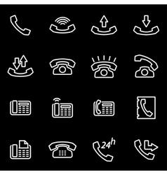 line telephone icon set vector image