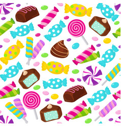 Lollipop caramel candy seamless pattern vector