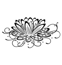 lotus flower design element vector image