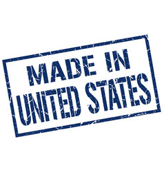 Made in united states stamp vector
