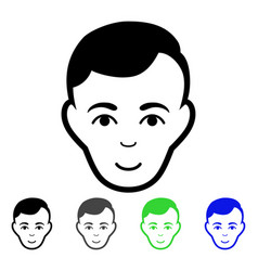 Man face flat icon vector