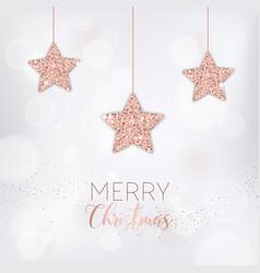 merry christmas card invitation greetings 2019 vector image