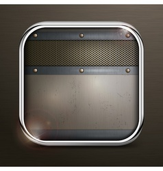 Metal square border icon vector image