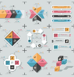 Modern infographic options banner color version 1 vector