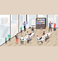 office life group office workers vector image