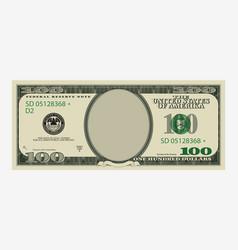 One hundred dollars bill template american vector