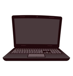 opened black laptop personal computer vector image