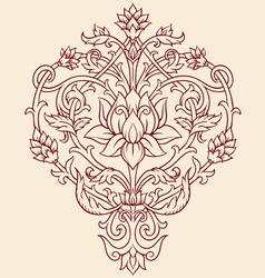 orange lotus flower vector image