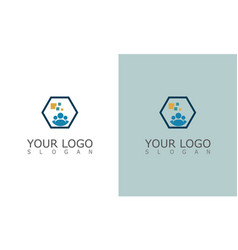 People group technology logo vector