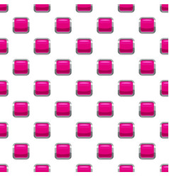 Pink square button pattern vector