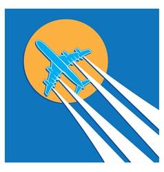Plane symbols vector