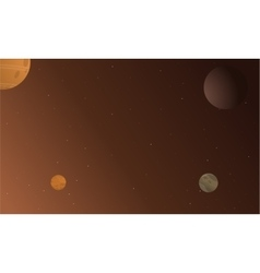 Planet and star beautiful landscape vector