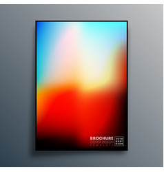 Poster with colorful gradient texture design for vector