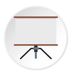 Presentation screen icon circle vector