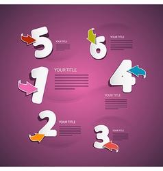 Progress steps for tutorial infographics on pink vector