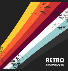 Retro background with colorful stripes vector